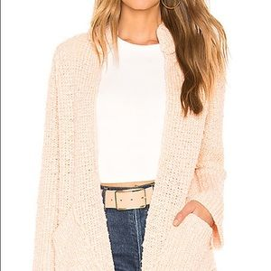 NWT Free People Peach Pink Knit Cardigan